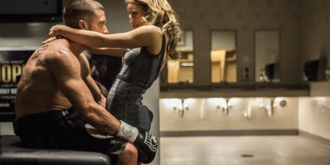 Jake Gyllenhaal and Rachel McAdams. Southpaw